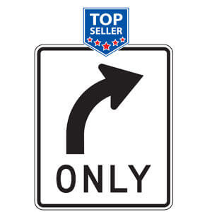 Intersection and Center Lane Control Signs