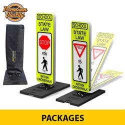 Portable/Fixed Pedestrian and School Crosswalk Signage